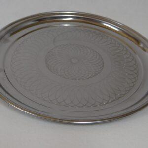 Serveerschaal RVS rond 55 cm